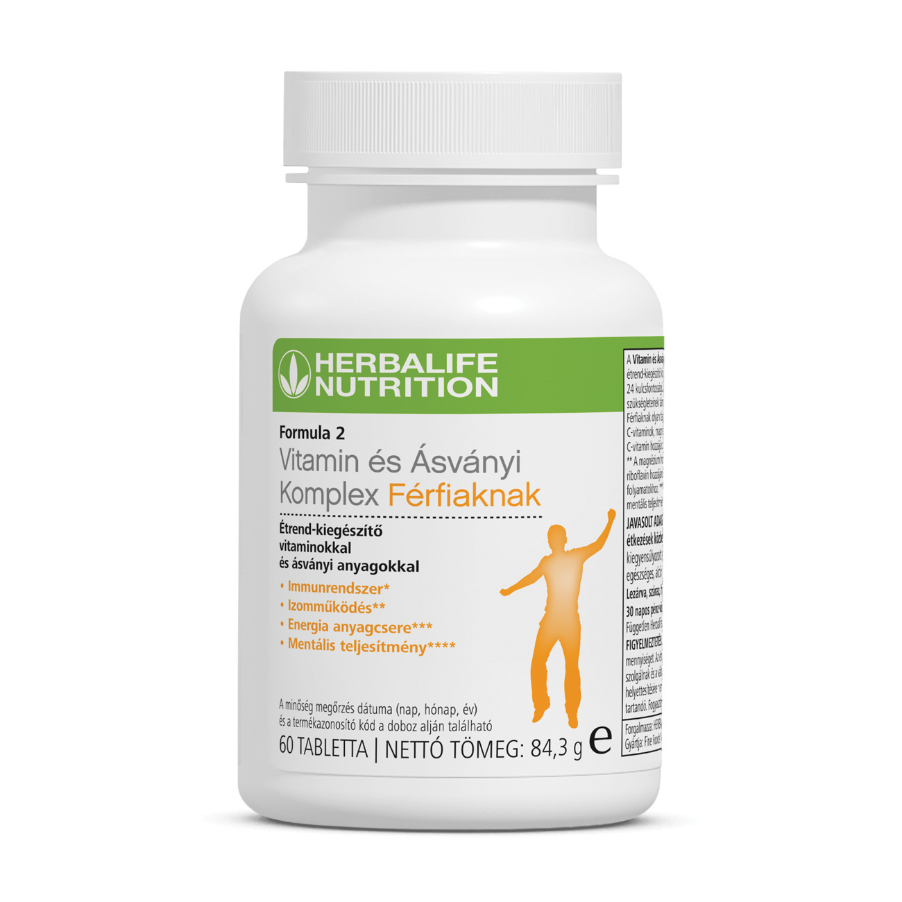 Formula 2 Vitamin és Ásványi Komplex Férfiaknak Multivitamin Kiegészítő 60 Tabletta