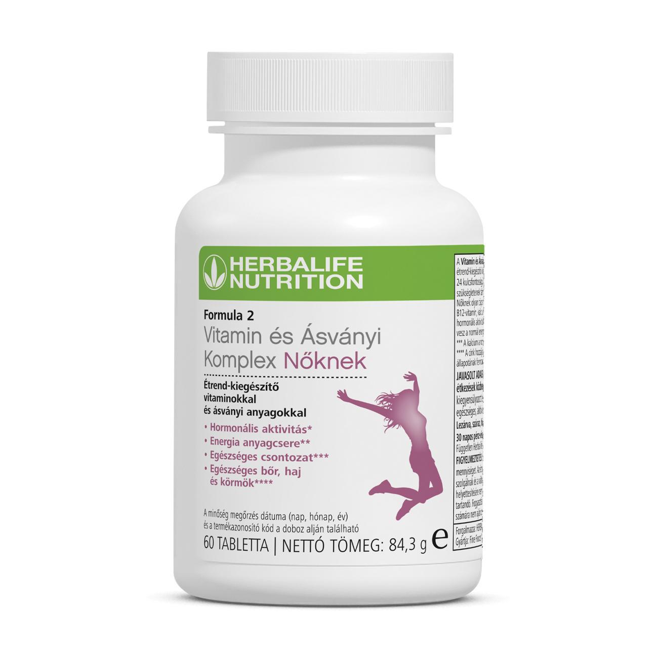 Formula 2 Vitamin és Ásványi Komplex Nőknek Multivitamin Kiegészítő 60 Tabletta
